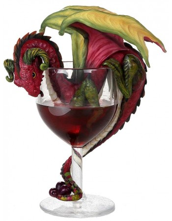 Red Wine Dragon Statue Mythic Decor  Dragon Statues, Angels, Myths & Legend Statues & Home Decor