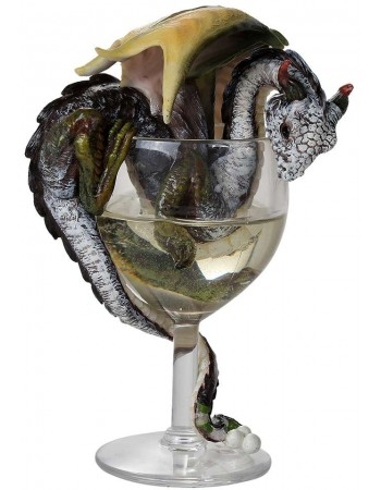 White Wine Dragon Statue Mythic Decor  Dragon Statues, Angels, Myths & Legend Statues & Home Decor