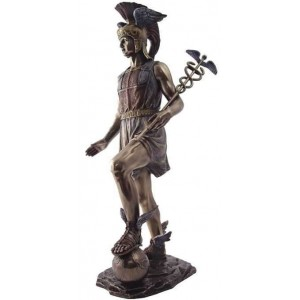 Hermes, Messenger of the Gods Bronze Statue Mythic Decor  Dragon Statues, Angels & Demons, Myths & Legends |Statues & Home Decor