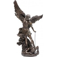 Archangel St Michael 47 Inch Bronze Resin Statue