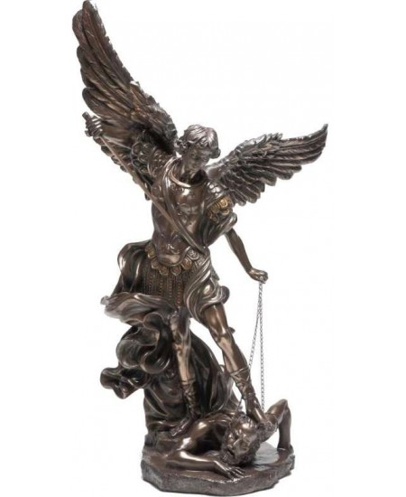 Archangel St Michael 47 Inch Bronze Resin Statue at Mythic Decor,  Dragon Statues, Angels, Myths & Legend Statues & Home Decor