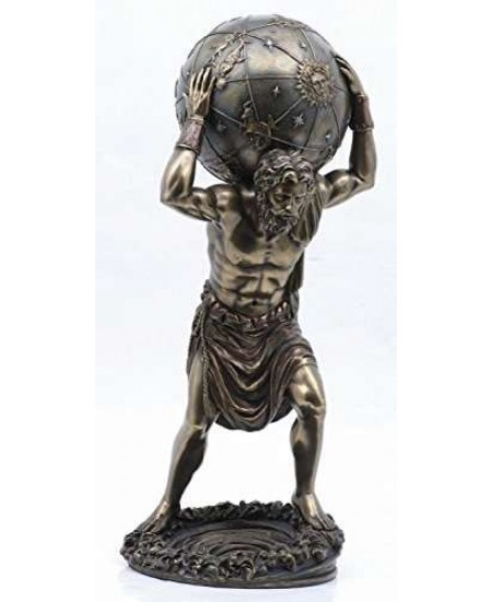 Atlas Holding the World at Mythic Decor,  Dragon Statues, Angels, Myths & Legend Statues & Home Decor