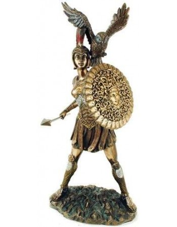 Athena Warrior Goddess of Wisdom Greek Goddess Bronze Statue