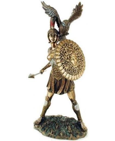 Athena Warrior Goddess of Wisdom Greek Goddess Bronze Statue at Mythic Decor,  Dragon Statues, Angels, Myths & Legend Statues & Home Decor