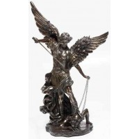Archangel St Michael 32 Inch Bronze Resin Statue