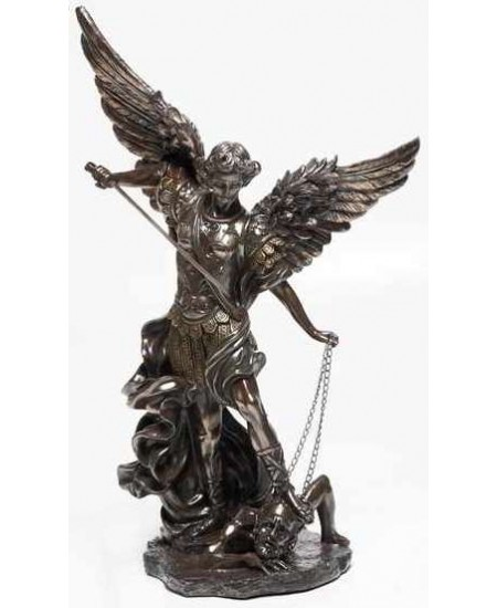 Archangel St Michael 32 Inch Bronze Resin Statue at Mythic Decor,  Dragon Statues, Angels, Myths & Legend Statues & Home Decor
