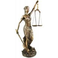 La Justica 12 Inch Lady Justice Statue in Bronze Resin