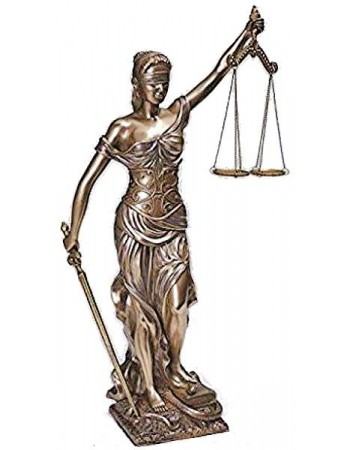 Lady Justice 18 Inch Statue in Bronze Resin