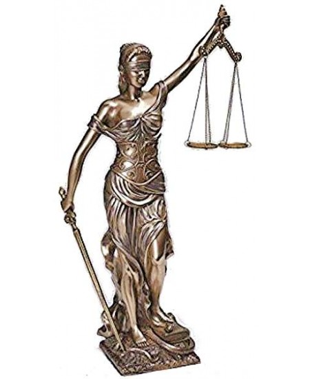 Lady Justice 18 Inch Statue in Bronze Resin at Mythic Decor,  Dragon Statues, Angels, Myths & Legend Statues & Home Decor