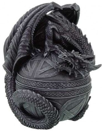 Celtic Dragon Round Trinket Box Mythic Decor  Dragon Statues, Angels, Myths & Legend Statues & Home Decor