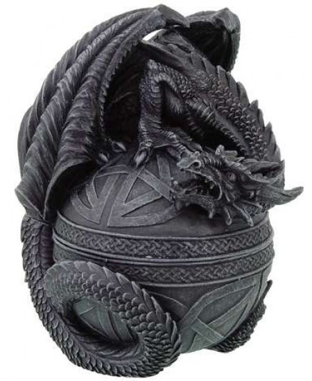 Celtic Dragon Round Trinket Box