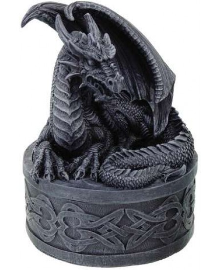 Celtic Dragon Round Treasure Box