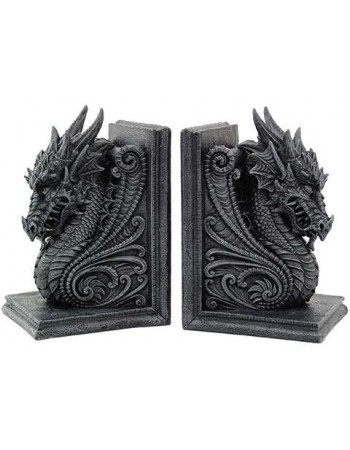Dragon Head Ornate Bookends Mythic Decor  Dragon Statues, Angels, Myths & Legend Statues & Home Decor