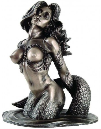 Sunsatiable Mermaid Statue by Monte Moore Mythic Decor  Dragon Statues, Angels, Myths & Legend Statues & Home Decor