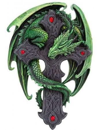 Woodland Guardian Dragon Plaque Mythic Decor  Dragon Statues, Angels, Myths & Legend Statues & Home Decor