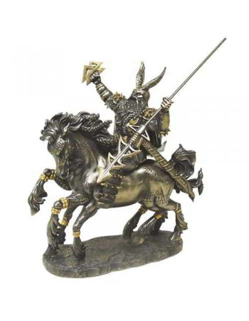 Odin on Horseback Norse God Bronze Statue Mythic Decor  Dragon Statues, Angels, Myths & Legend Statues & Home Decor