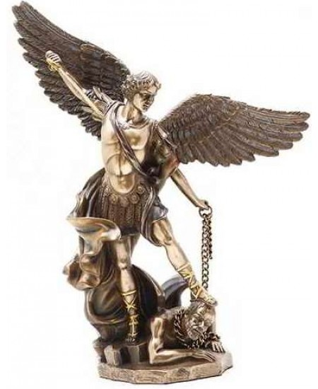 Archangel St Michael 10 Inch Bronze and Gold Statue at Mythic Decor,  Dragon Statues, Angels, Myths & Legend Statues & Home Decor
