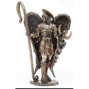 Archangel Raphael Healing Bronze Resin Statue Mythic Decor  Dragon Statues, Angels & Demons, Myths & Legends |Statues & Home Decor