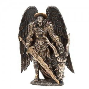 Archangel St Michael Bronze Statue by Derek W Frost Mythic Decor  Dragon Statues, Angels & Demons, Myths & Legends |Statues & Home Decor