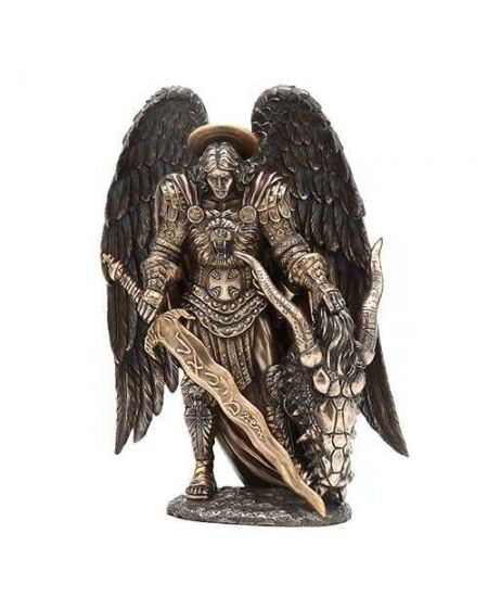 Archangel St Michael Bronze Statue by Derek W Frost at Mythic Decor,  Dragon Statues, Angels, Myths & Legend Statues & Home Decor