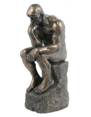 The Thinker by Rodin 10 Inch Bronze Statue Mythic Decor  Dragon Statues, Angels, Myths & Legend Statues & Home Decor