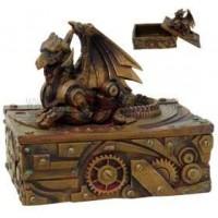 Steampunk Winged Dragon Trinket Box