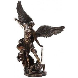 Archangel St Michael Slaying Evil 15 Inch Bronze Statue Mythic Decor  Dragon Statues, Angels & Demons, Myths & Legends |Statues & Home Decor