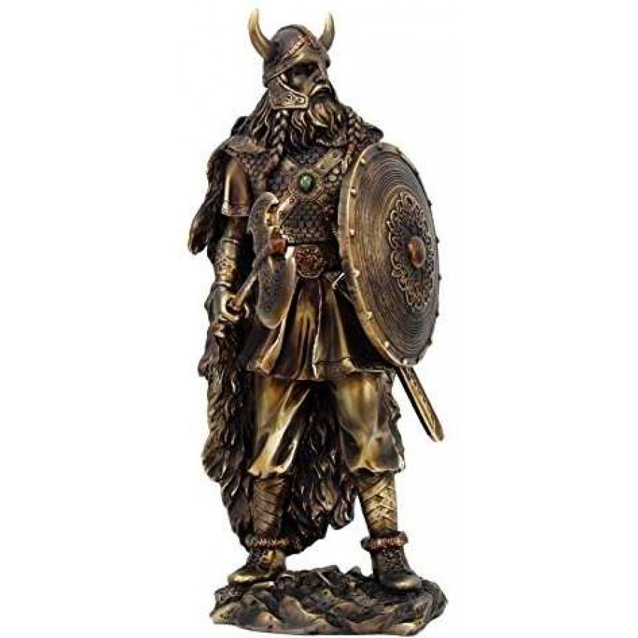 Viking Warrior With Shield Statue At Mythic Decor Dragon Statues Angels Demons