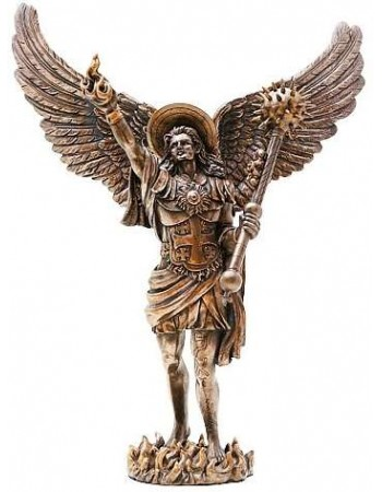 Archangel Uriel Bronze Resin Statue Mythic Decor  Dragon Statues, Angels & Demons, Myths & Legends |Statues & Home Decor
