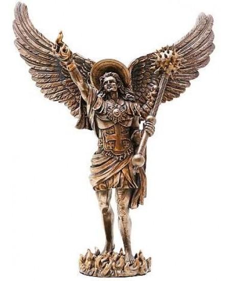 Archangel Uriel Bronze Resin Statue at Mythic Decor,  Dragon Statues, Angels, Myths & Legend Statues & Home Decor