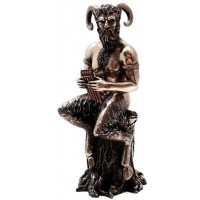 Baccchus Greek God of Nature Satyr Statue