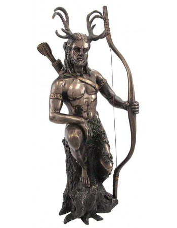 Herne the Hunter Horned Forest God Statue Mythic Decor  Dragon Statues, Angels & Demons, Myths & Legends |Statues & Home Decor