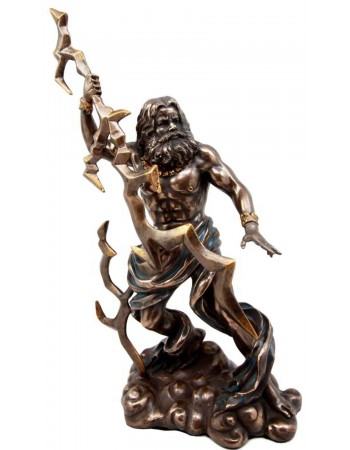 Zeus Greek King of Gods with Thunderbolt Bronze Statue Mythic Decor  Dragon Statues, Angels, Myths & Legend Statues & Home Decor
