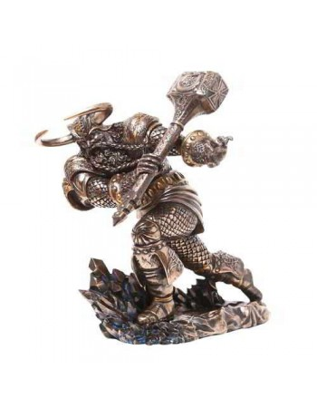 Thor, Norse God Attacking with Hammer Statue Mythic Decor  Dragon Statues, Angels & Demons, Myths & Legends |Statues & Home Decor