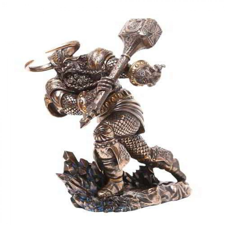 thor norse god attacking with hammer statue vikings avengers