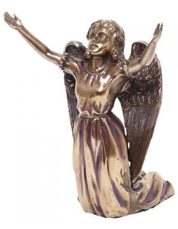 Praising Angel Bronze Resin Statue Mythic Decor  Dragon Statues, Angels, Myths & Legend Statues & Home Decor