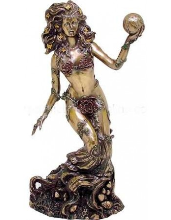 Gaia, Mother Earth Bronze Statue Mythic Decor  Dragon Statues, Angels, Myths & Legend Statues & Home Decor
