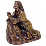 Jesus in Prayer Bronze Christian Statue at Mythic Decor,  Dragon Statues, Angels, Myths & Legend Statues & Home Decor