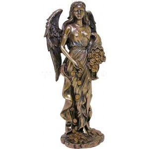 Lady Fortuna Greek Goddess Bronze Statue Mythic Decor  Dragon Statues, Angels & Demons, Myths & Legends |Statues & Home Decor