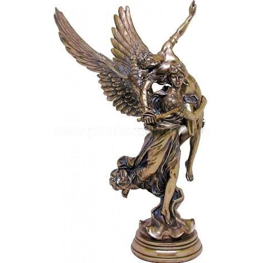 Pheme Winged Fame Greek Goddess Bronze Statue