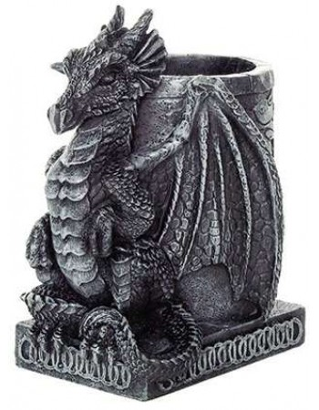 Dragon Utility Holder Pen Cup Mythic Decor  Dragon Statues, Angels, Myths & Legend Statues & Home Decor