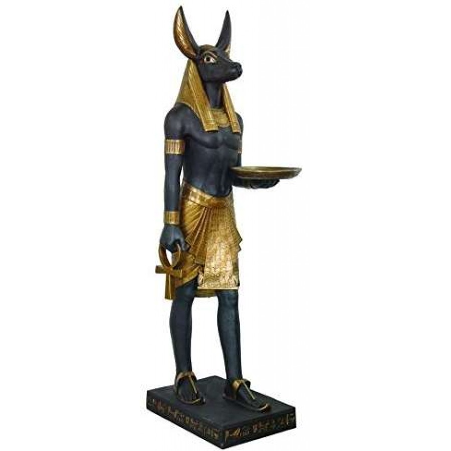 Anubis Egyptian Dog Life Size 6 Feet Tall Statue At Mythic Decor Dragon Statues