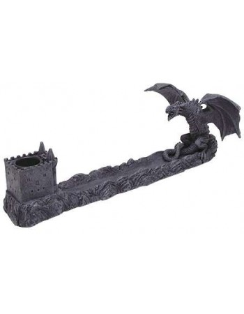 Castle Dragon Incense Burner Mythic Decor  Dragon Statues, Angels & Demons, Myths & Legends |Statues & Home Decor