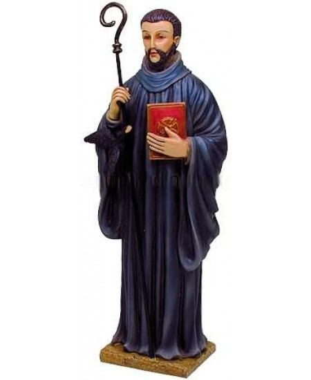 Saint Benedict Christian Statue at Mythic Decor,  Dragon Statues, Angels, Myths & Legend Statues & Home Decor