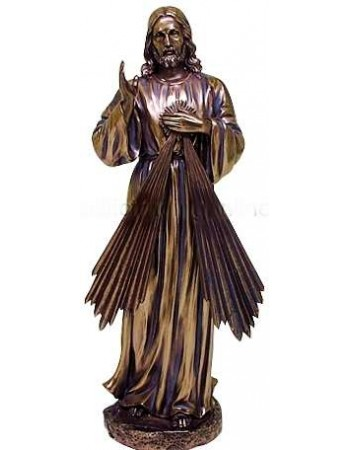 Divine Mercy Jesus Christian Bronze Statue Mythic Decor  Dragon Statues, Angels, Myths & Legend Statues & Home Decor