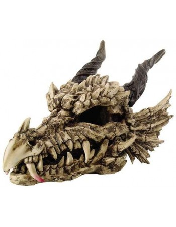 Dragon Skull Large Bone Resin Statue