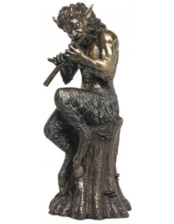 Baccchus Greek God of Nature Satyr Statue Mythic Decor  Dragon Statues, Angels, Myths & Legend Statues & Home Decor