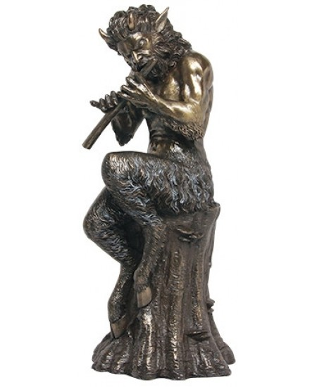 Baccchus Greek God of Nature Satyr Statue at Mythic Decor,  Dragon Statues, Angels, Myths & Legend Statues & Home Decor