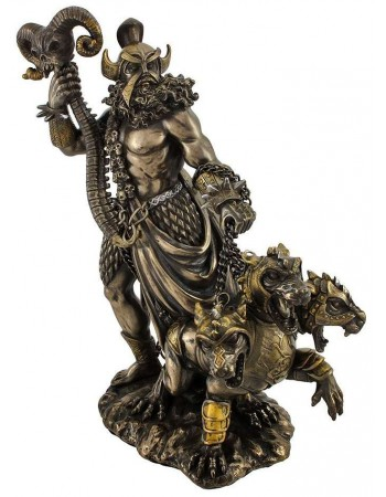 Hades Greek God of the Underworld Bronze Resin Statue