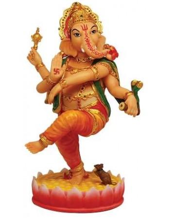 Dancing Ganesha Hindu God Statue Mythic Decor  Dragon Statues, Angels & Demons, Myths & Legends |Statues & Home Decor
